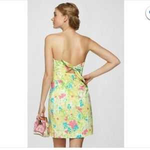 Lilly Pulitzer strapless Franco Dress Floral Print